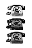 Vintage Rotary Telephone b&w Pop Art Print Poster Prints