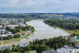 View over Whanganui and the Whanganui River, North Island, New Zealand, Pacific Photographic Print by Michael Runkel