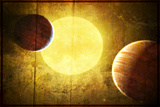 2 Planets and a Sun Posters