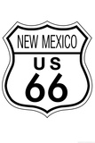 New Mexico Route 66 Sign Art Poster Print Posters