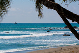 Costa Rica Waves Breaking on Beach Photo Poster Print Posters