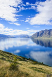Cloud Reflections in Lake Hawea, Haast Pass, South Island, New Zealand, Pacific Photographic Print by Michael Runkel