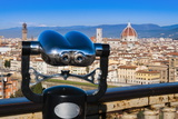 View of City Center of Florence, Florence (Firenze), Tuscany, Italy, Europe Photographic Print by Nico Tondini