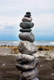 Balancing Rocks on Beach Photo Poster Print Posters