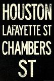 New York City Houston Chambers Vintage RetroMetro Subway Poster Prints
