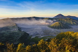 Mount Bromo Volcanic Crater at Sunrise, Bromo Tengger Semeru National Park, Java, Indonesia Photographic Print by Michael Runkel