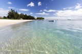View Along Flic En Flac Beach Showing the Clear Shallows of the Indian Ocean Photographic Print by Lee Frost