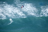 Aerial View of Kitesurfer Photographic Print by Richard Du Toit