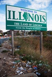 Welcome to Illinois and Trash Photographic Print by Joseph Sohm