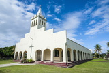 White Christian Church in Haapai, Haapai Islands, Tonga, South Pacific, Pacific Photographic Print by Michael Runkel