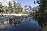 Swinging Bridge over Merced River, Cathedral Beach, Yosemite National Park, California, Usa Photographic Print by Jean Brooks
