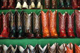 Cowboy Boots for Sale in Libertad Market Photographic Print by Danny Lehman