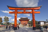 Torii Gate at Fushimi Inari Jinja, Shinto Shrine, Kyoto, Honshu, Japan, Asia Photographic Print by Christian Kober