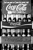 Vintage Coca Cola Bottle Cases Coke B&W Photo Print Poster Photo