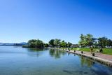 The Shores of Lake Rotorua, Rotorua, North Island, New Zealand, Pacific Photographic Print by Michael Runkel