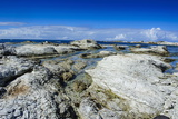 Limestone Rocks in the Clear Waters of Kaikoura Peninsula, South Island, New Zealand, Pacific Photographic Print by Michael Runkel