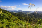 View over Mountains of Karamea, West Coast, South Island, New Zealand, Pacific Photographic Print by Michael Runkel