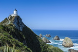 Nugget Point Lighthouse, the Catlins, South Island, New Zealand, Pacific Photographic Print by Michael Runkel