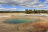 Colourful Pool, Midway Geyser Basin, Yellowstone National Park, Wyoming, Usa Photographic Print by Eleanor Scriven