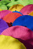 Umbrellas at Borsang Handicraft Village, Chiang Mai, Thailand, Southeast Asia, Asia Photographic Print by Tuul