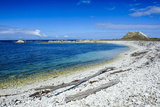 Limestone Rocky Beach on the Clear Waters of Kaikoura Peninsula, South Island, New Zealand, Pacific Photographic Print by Michael Runkel