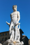 Fountain of Neptune (Biancone), Piazza Signoria, Florence (Firenze), Tuscany, Italy, Europe Photographic Print by Nico Tondini