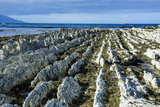 Beautiful Limestone Formations on the Kaikoura Peninsula, South Island, New Zealand, Pacific Photographic Print by Michael Runkel