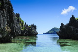 Crystal Clear Water in the Bacuit Archipelago, Palawan, Philippines, Southeast Asia, Asia Photographic Print by Michael Runkel