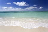 Idyllic Beach Scene with Blue Sky, Aquamarine Sea and Soft Sand, Ile Aux Cerfs Photographic Print by Lee Frost