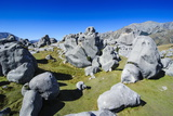 Limestone Outcrops on Castle Hill, Canterbury, South Island, New Zealand, Pacific Photographic Print by Michael Runkel