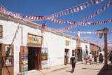 Calama Street Decorated with Streamers for September 18 Independence Day Holiday, San Pedro, Chile Photographic Print by Kimberly Walker