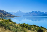 Lake Pukaki, Mount Cook National Park, South Island, New Zealand, Pacific Photographic Print by Michael Runkel