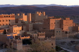 Traditional Kasbahs (Fortified Houses) Bathed in Evening Light in the Town of Nkob Photographic Print by Lee Frost