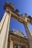 Detail of the Temple of Hadrian, Roman Ruins of Ancient Ephesus, Near Kusadasi Photographic Print by Eleanor Scriven