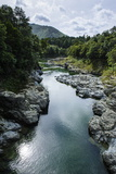 River Contributing Water to the Marlborough Sounds, South Island, New Zealand, Pacific Photographic Print by Michael Runkel