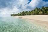 Palm Fringed White Sand Beach in Haapai, Haapai Islands, Tonga, South Pacific, Pacific Photographic Print by Michael Runkel