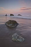 Rocks on the Beach at Dawn, Bandon Beach, Oregon, United States of America, North America Photographic Print by James Hager