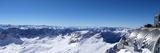 View from the Zugspitze, Germany's Highest Mountain of the Alps, Wettersteingebirge Fotografisk trykk av Karl Thomas
