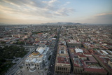 View from Torre Latinoamerica at Dusk over Mexico City, Mexico, North America Photographic Print by Ben Pipe