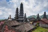 Overlook over the Pura Besakih Temple Complex, Bali, Indonesia, Southeast Asia, Asia Reprodukcja zdjęcia autor Michael Runkel
