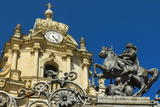 St. George Statue at San Giorgio Cathedral (Duomo of Ibla) in Historic Baroque Town Photographic Print by Rob Francis