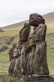 15 Moai Restored Ceremonial Site of Ahu Tongariki Photographic Print by Michael Nolan