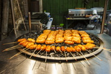 Fresh Cooked Food at the Shilin Night Market, Taipei, Taiwan, Asia Photographic Print by Michael Runkel