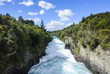 Narrow Chasm Leading in the Huka Falls on the Waikato River, Taupo, North Island Photographic Print by Michael Runkel