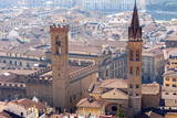 View over Florence from the Duomo, Tower of Bargello, Florence (Firenze), Tuscany, Italy, Europe Photographic Print by Nico Tondini