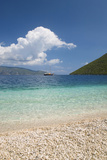 View from Pebble Beach across Antisamos Bay, Sami, Kefalonia (Kefallonia Photographic Print by Ruth Tomlinson