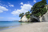 White Sand Beach on Cathedral Cove, Coromandel, North Island, New Zealand, Pacific Photographic Print by Michael Runkel