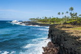 Rocky South Coast Near the Alofaaga Blowholes on the South of Savaii, Samoa, South Pacific, Pacific Photographic Print by Michael Runkel