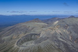 Aerial of Tongariro National Park, UNESCO World Heritage Site, North Island, New Zealand, Pacific Photographic Print by Michael Runkel