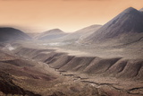 High Altitude Atacama Desert Landscape Near Tatio Geyser Field at Sunset, Chile, South America Photographic Print by Kimberly Walker